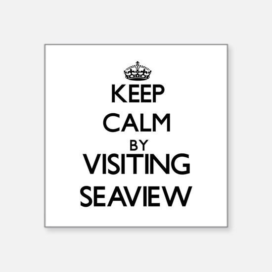 Keep calm by visiting Seaview Massachusetts Sticke