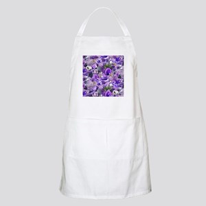 Purple Seashells and Starfish Apron