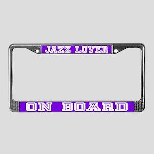 Jazz Lover License Plate Frame