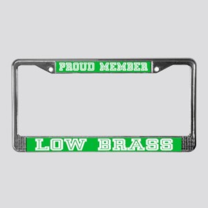 Low Brass Music License Plate Frame