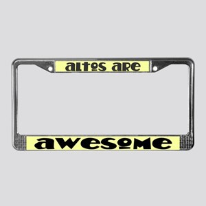 Altos Are Awesome License Plate Frame