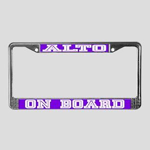 Alto License Plate Frame
