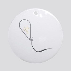 Abstract Light Bulb Ornament (Round)