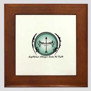 Sagittarius Always Seeks the Truth Framed Tile