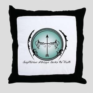 Sagittarius Always Seeks the Truth Throw Pillow