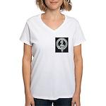 Wilson Badge on Women's V-Neck T-Shirt
