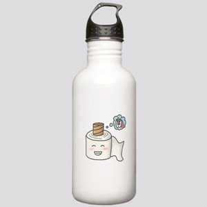 Toilet Paper Unicorn Dream Big Water Bottle