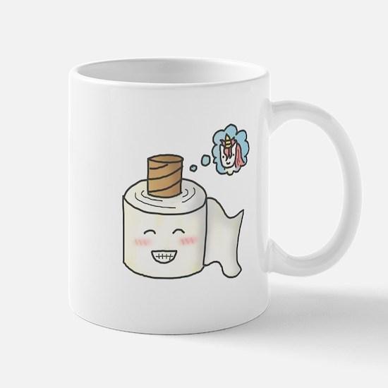 Toilet Paper Unicorn Dream Big Mugs