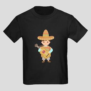 Cute Boy Guitar Mexican Fiesta T-Shirt
