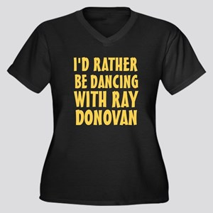 Dancing with Women's Plus Size V-Neck Dark T-Shirt