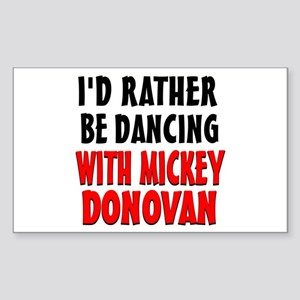 Dancing with Mickey Sticker (Rectangle)