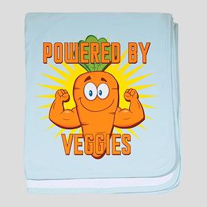 Powered by Veggies baby blanket