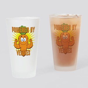 Powered by Veggies Drinking Glass