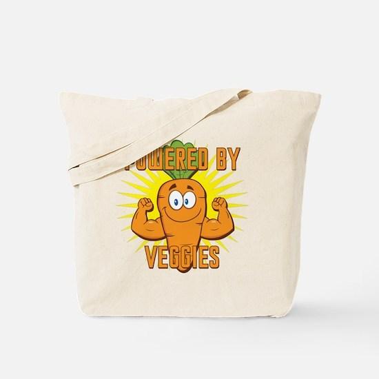 Powered by Veggies Tote Bag