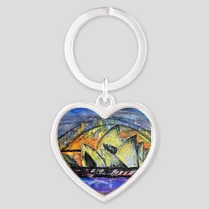 Hot Sydney Night Heart Keychain