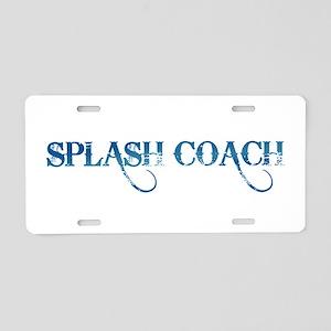 Splash Coach Revised Aluminum License Plate
