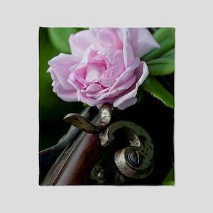 Summer Rose Garden Shotgun Throw Blanket
