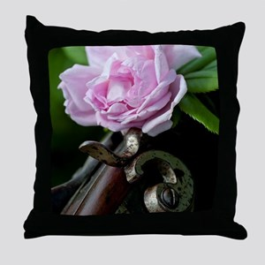 Summer Rose Garden Shotgun Throw Pillow