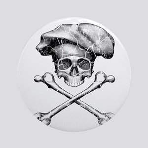 Chef Skull and Crossbones Ornament (Round)