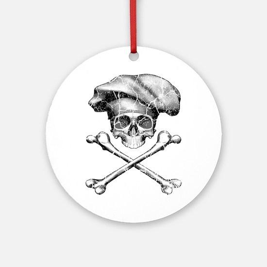 Chef Skull and Crossbones Ornament (Round)