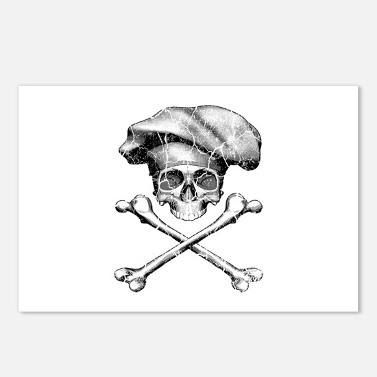 Chef Skull and Crossbones Postcards (Package of 8)
