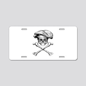 Chef Skull and Crossbones Aluminum License Plate