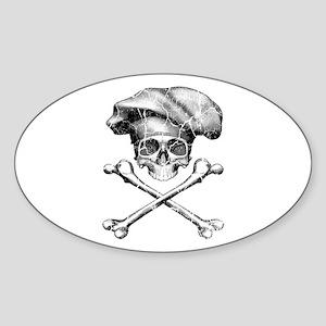 Chef Skull and Crossbones Sticker