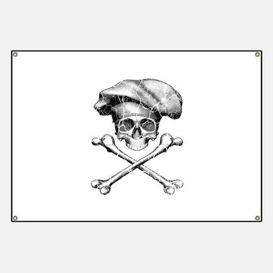 Chef Skull and Crossbones Banner