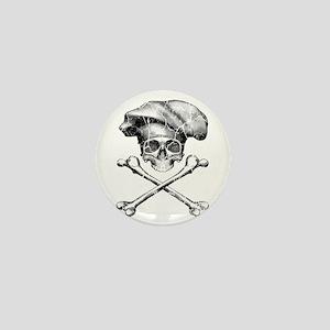 Chef Skull and Crossbones Mini Button
