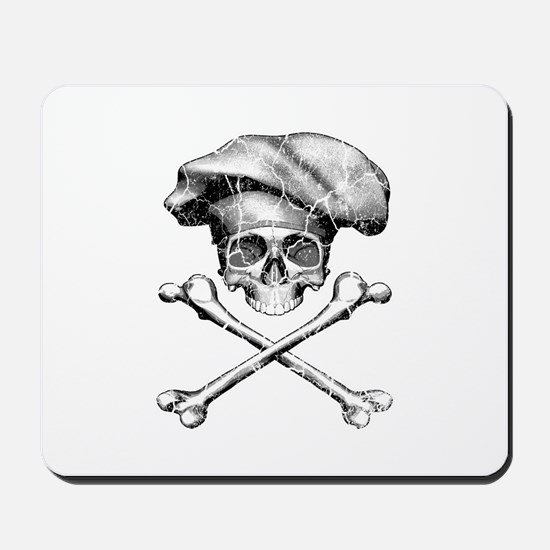 Chef Skull and Crossbones Mousepad