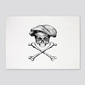 Chef Skull and Crossbones 5'x7'Area Rug