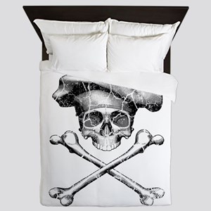 Chef Skull and Crossbones Queen Duvet
