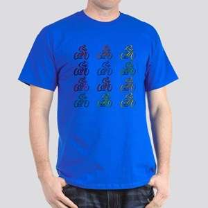 Rainbow Cyclists Dark T-Shirt