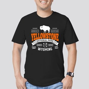 Yellowstone Vintage Men's Fitted T-Shirt (dark)