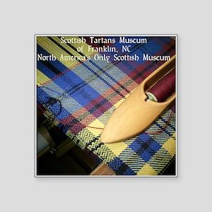 "Scottish Tartans Museum Square Sticker 3"" x 3"""