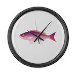 Crimson Jobfish Opakapaka Large Wall Clock