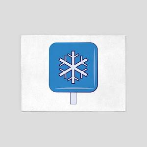 Snow Sign 5'x7'Area Rug
