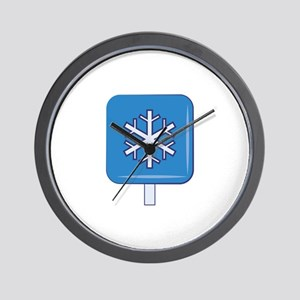 Snow Sign Wall Clock