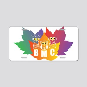 BMC Autumn Owls Aluminum License Plate