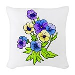 Flowers of Spring Woven Throw Pillow