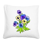 Flowers of Spring Square Canvas Pillow