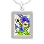Flowers of Spring Silver Portrait Necklace