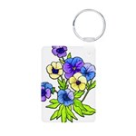 Flowers of Spring Aluminum Photo Keychain