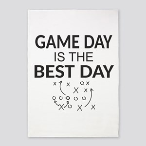 Game Day is the Best Day 5'x7'Area Rug