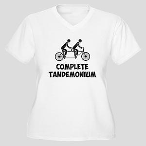 Tandem Bike Complete Tandemonium Plus Size T-Shirt