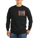 Wilson Tartan & Badge Long Sleeve Dark T-Shirt