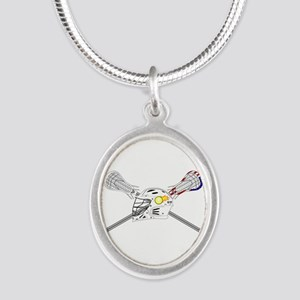 Lacrosse Sticks Modern Necklaces