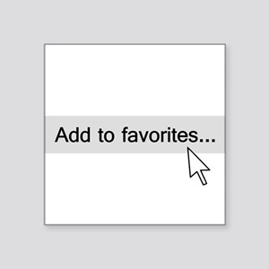 Add to Favorites Computer Mouseover Sticker