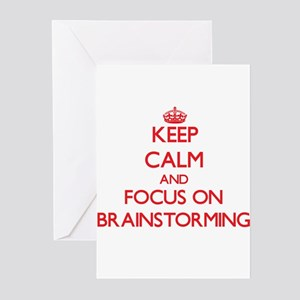 Keep Calm and focus on Brainstorming Greeting Card