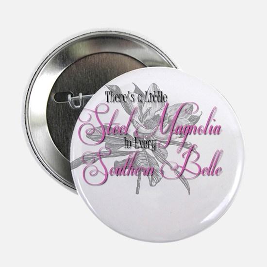"""Steel Magnolia 2.25"""" Button"""